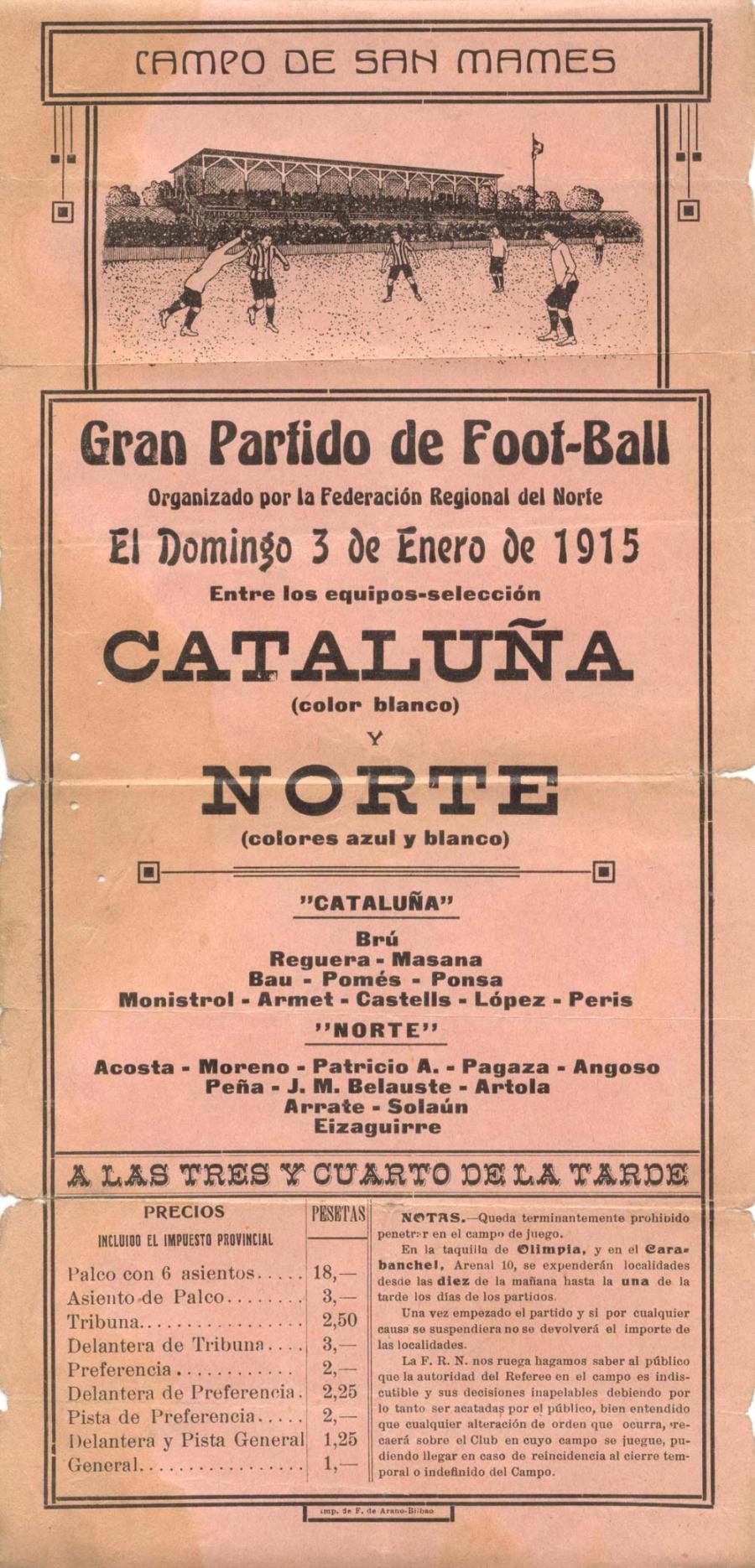 Gabriel Bau cartell San Mamés