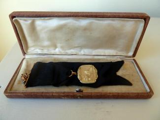 Medalla ganada por la conquista del Campeonato de Cataluña de 1916