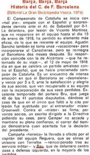 Bau en el Barcelona de la temporada 1918